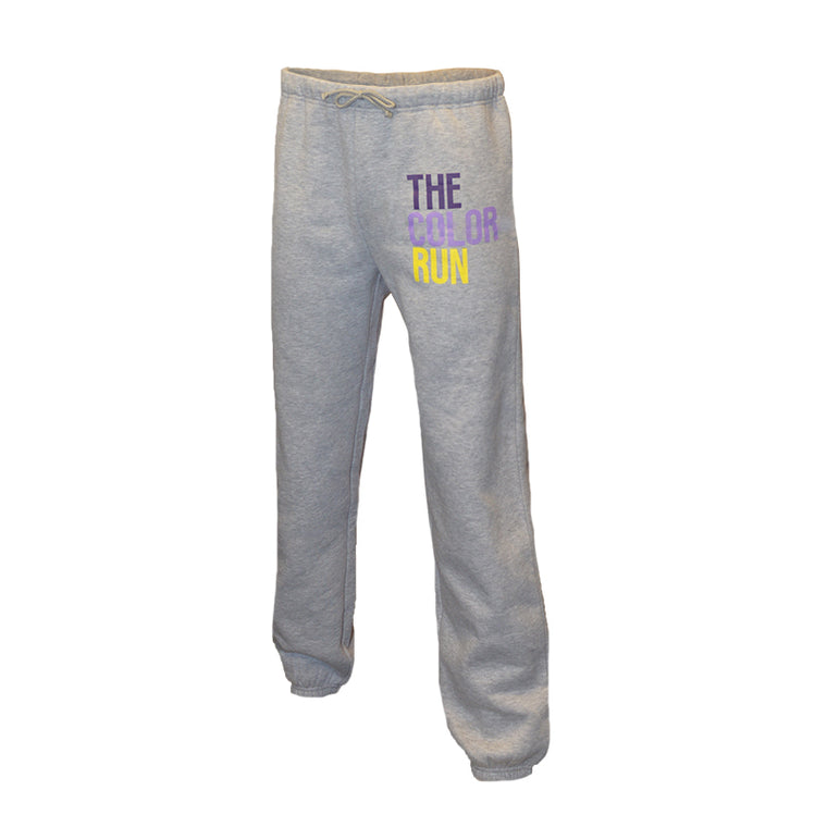 Grey Stack Logo Sweatpants