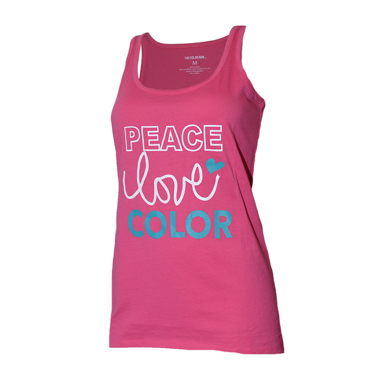 Pink Peace Love Color Tank