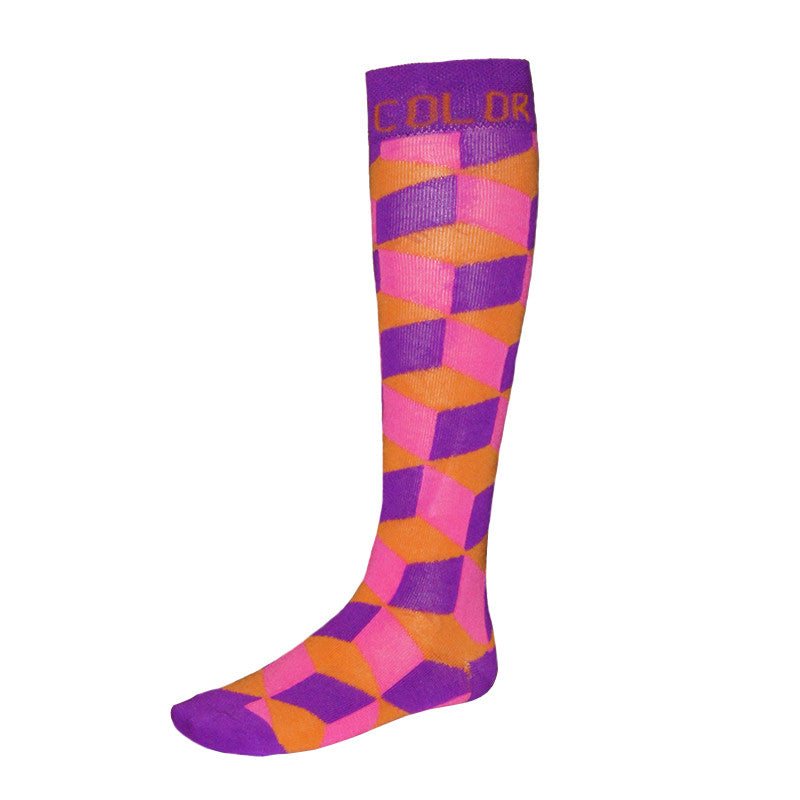 Purple Cube Running Socks