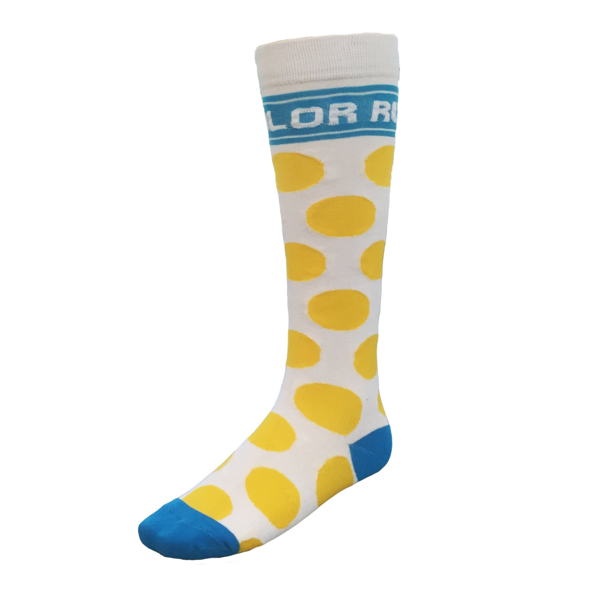 Yellow Polka Dot Running Socks