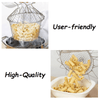 Foldable Steam Fry Strainer Basket