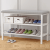Multilayer Shoe Organizer Storage Rack and Bench Seat for Entryway