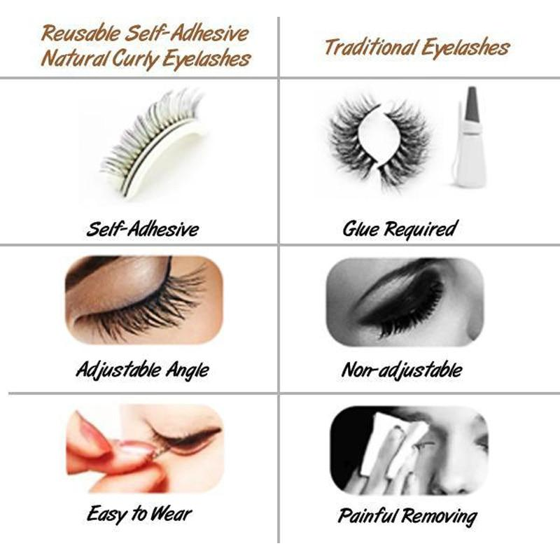Reusable Self Adhesive Eyelashes Live Your Expression