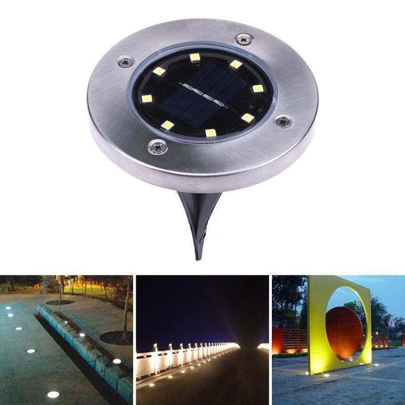 Solar Powered Floor Path LED Light (4 Pieces)