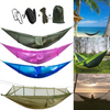 Foldable Camping Hammock Tent with Bug Net for Backpacking.
