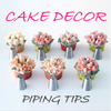 Cake Decor Piping Tips (Set of 7!
