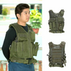 Military Tactical Army Molle Vest with Plate Carrier for Paintball, Security, Hunting, and More