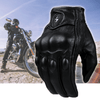 Heated and Waterproof Leather Motorcycle Riding Gloves for Winter Weather