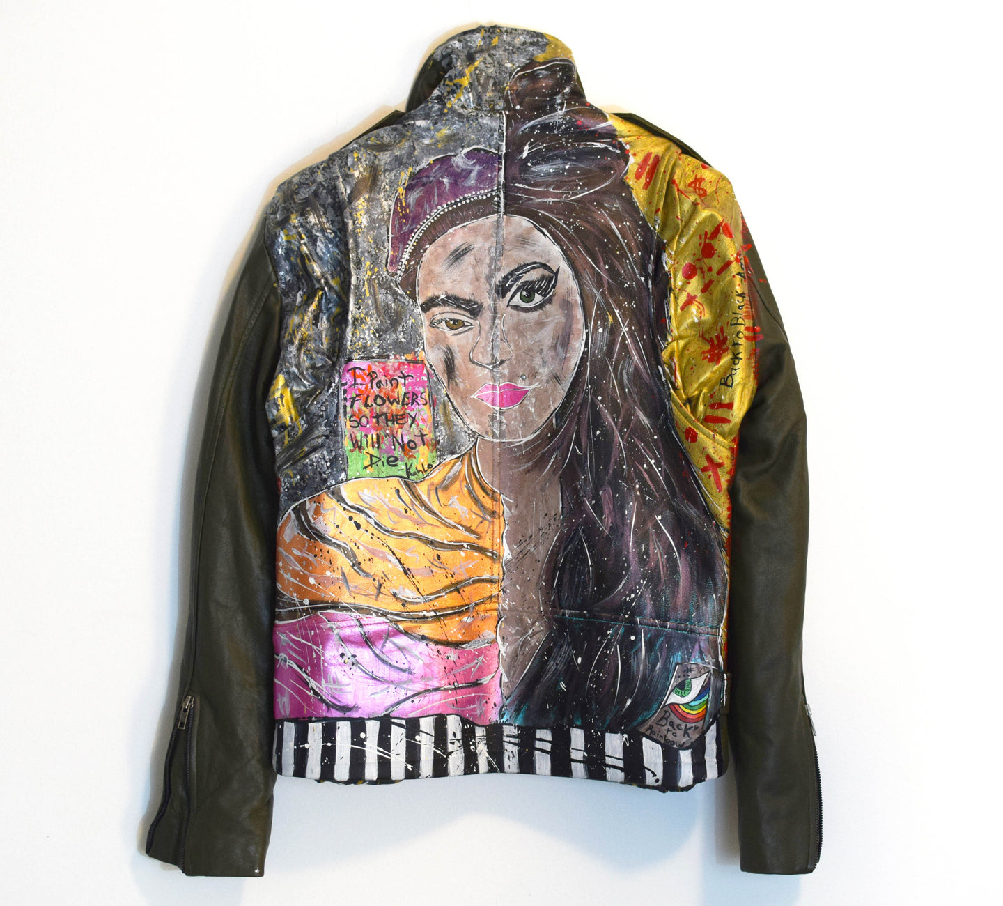 Leather jacket - Frada Kahlo & Amy Winehouse
