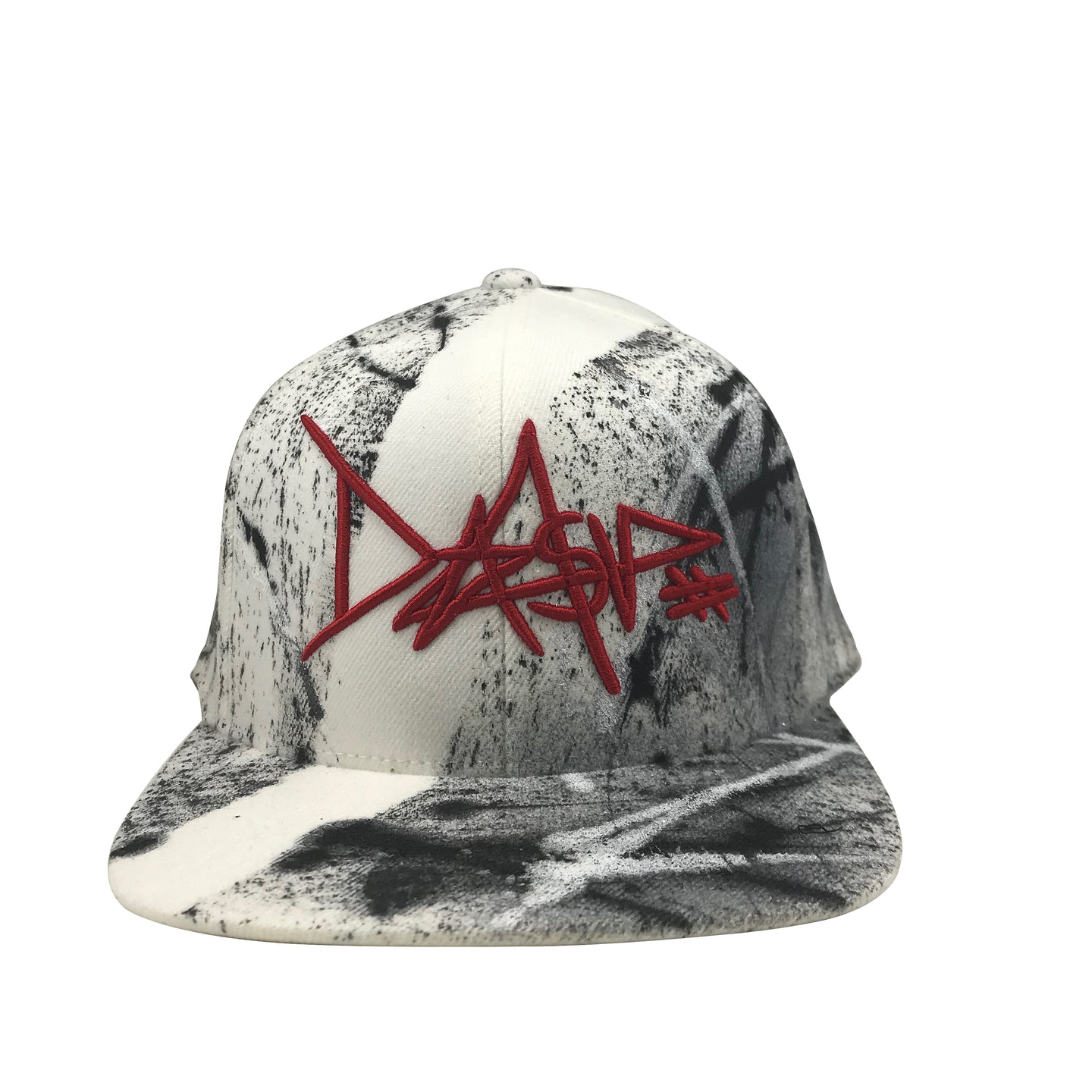 Hat - Unique hand painted  / DASV - red