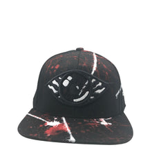 Hat - Unique hand painted  -  Black/Red