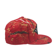 Hat - Unique hand painted / Red- B&W- Gold