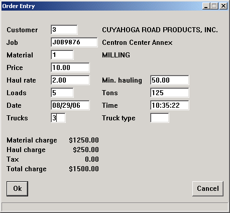 order entry dispatch software