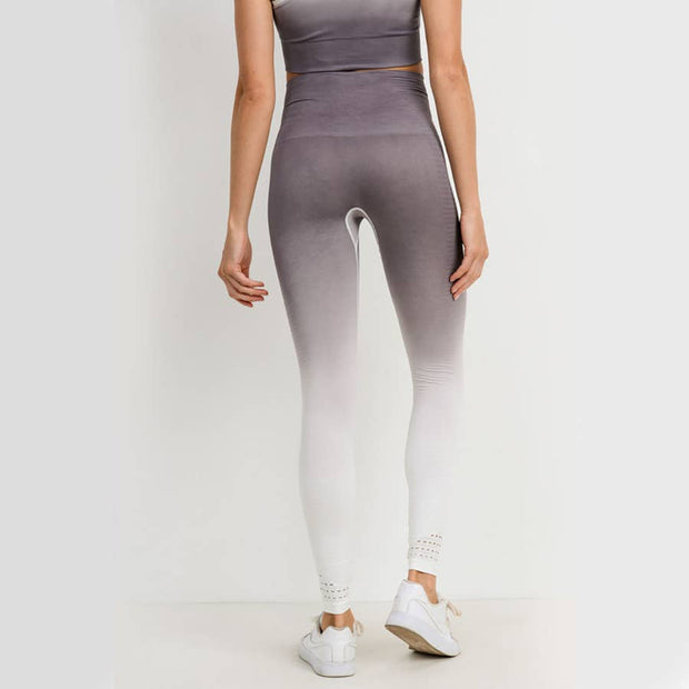Maternity + Postpartum Active Leggings in Gray Ombré