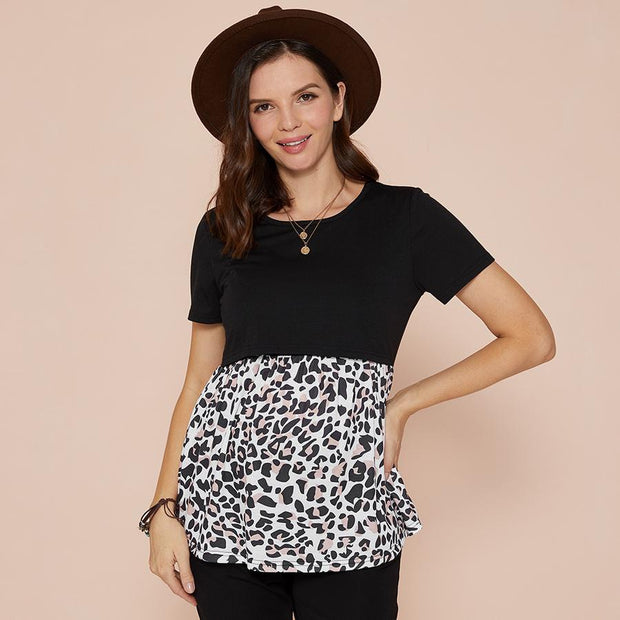 Maternity + Nursing Leopard Top