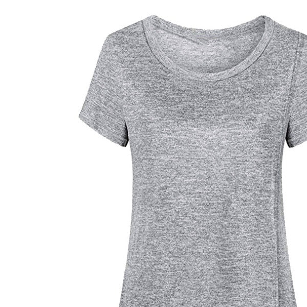 Maternity + Nursing Heather Gray Top