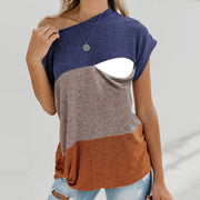 Maternity + Nursing Color Block Top