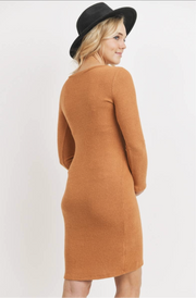 Maternity + Postpartum Softest Dress in Rust