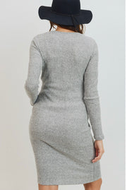 Maternity + Postpartum Softest Dress in Gray