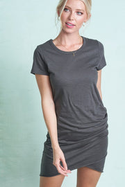 Maternity + Postpartum Tulip Dress in Charcoal