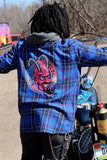 Men's Ridin' With The Devil Hooded Flannel Shirt