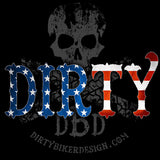 Dirty Biker Design - Dirty 'Merica Tank Top