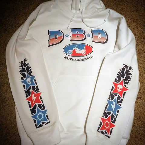 D. B. D. Red White & Blue Hoodie