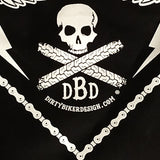 Dirty Biker Design Dirty Skull Bandanna