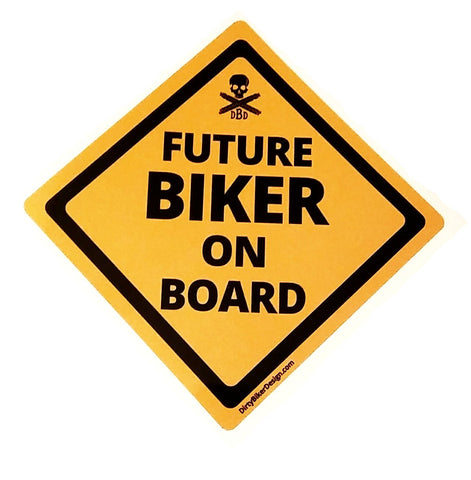 Future Biker on Board Vehicle Decal
