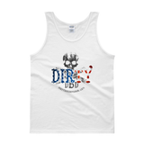 Dirty Biker Design - White Dirty 'Merica Tank Top