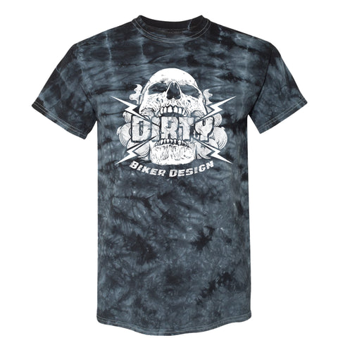 Dirty Biker Design Smoke and Lightning Tie-dye