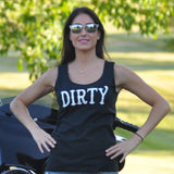Dirty Biker Design - Ladies Logo Tank Top