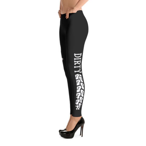 Dirty Biker Design - Logo Leggings (left)
