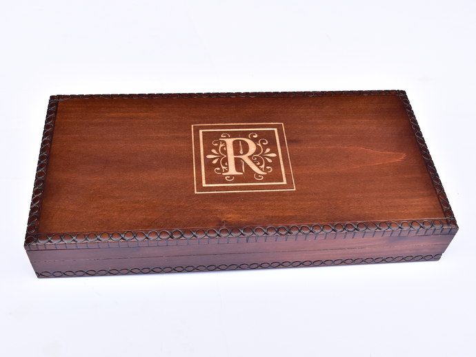 Personalized Initial Wooden Box