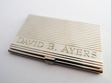 Business Card Case, Personalized Business Card Holder, Calling Card Holder, Custom Visiting Card, Metal Card Holder, Engraved Card Holder - OpenHaus Gifts