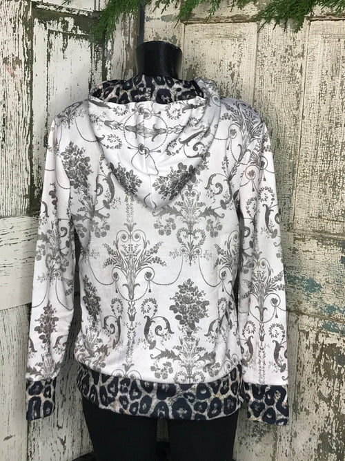 Wild Side Leopard Damask Top