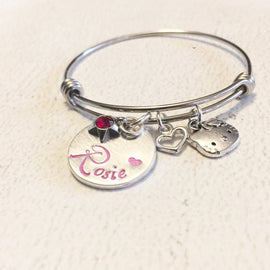 Child bracelet - Hand stamped bracelet - Gift for