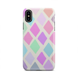 Rainbow Colored Geometric Abstract iPhone X Case