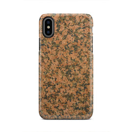 Marble Pattern Tan Black Grey Stone iPhone X Case