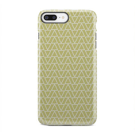 Green And White Triangle Geometric iPhone X Case