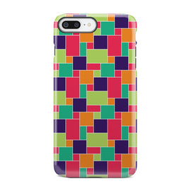 Multicolored Geometric Square Rectangle iPhone X