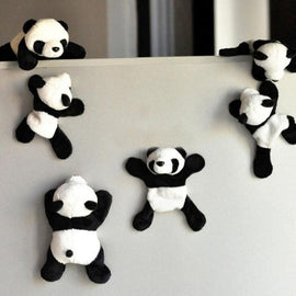 1Pc Panda Fridge Sticker Cute Soft Plush Panda