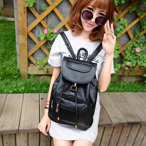 Vintage Women's Backpack  Leather Rucksack