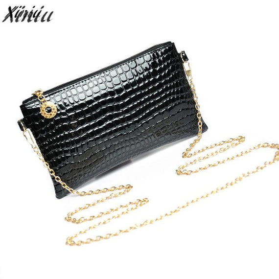 Women Messenger Bags Leather Chain Crossbody