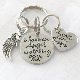 Memorial keychain - loss of loved one - Hand