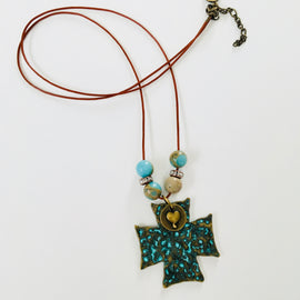 Boho Cross Necklace