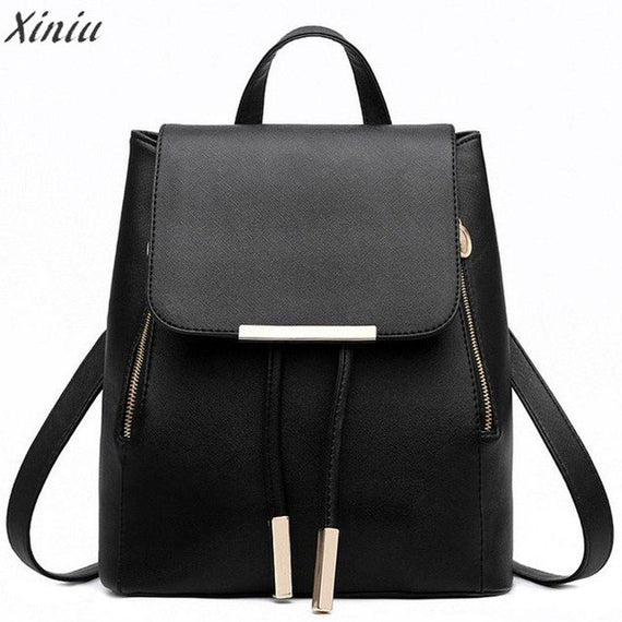 College wind Backpack Women Leather Backpacks