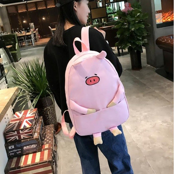 Fashion  Backpack Women lady Girl Canvas Piggy