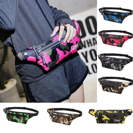 Fashion  waist bag women men Unisex Camouflage