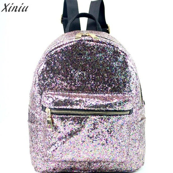 Fashion Backpack Women School Style shiny Sequins